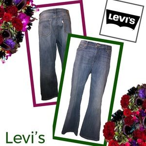 LEVI'S Curvy Bootcut Vintage Wash Jeans